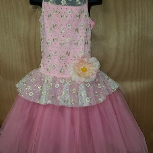 Pink dance recital costume. Size CME